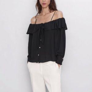 BNWT Zara cold shoulder blouse
